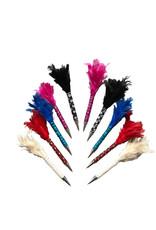 Set 10 Kugelschreiber mit Federn und Glitter