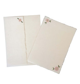 PN235 Lot de 5 cartes et 5 enveloppes avec des fleurs