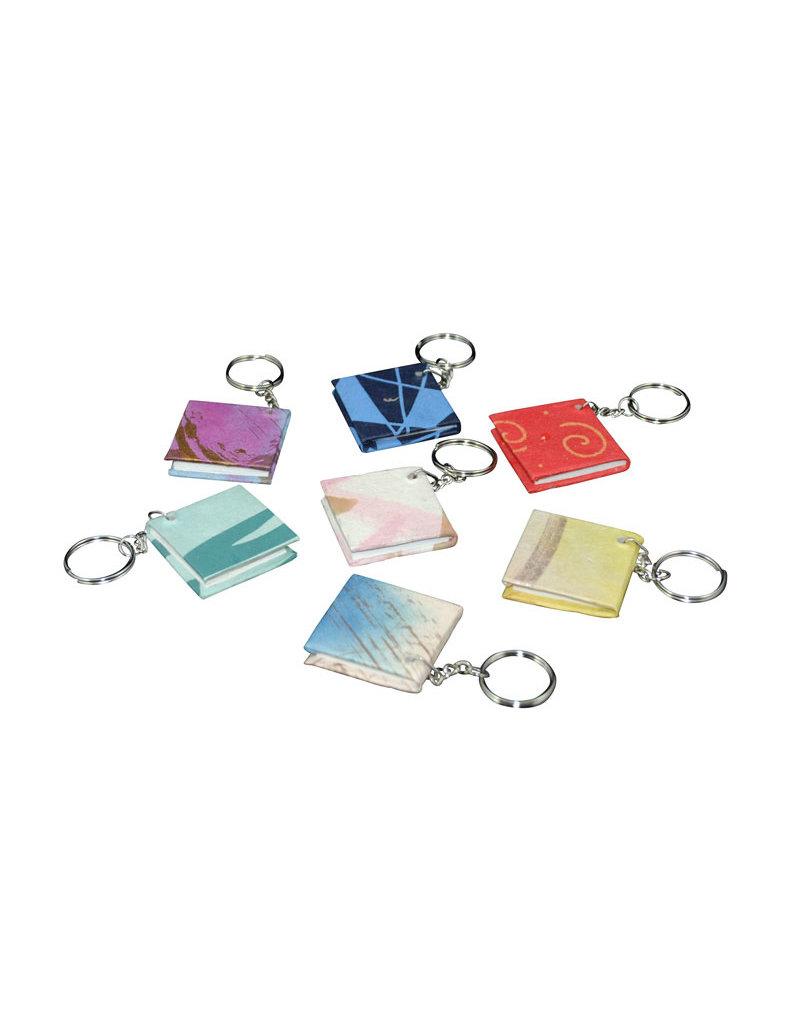 Set 50 sleutelhangers mini-boekje