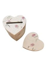 Hartvormige doos, mulberrypapier met bougainville