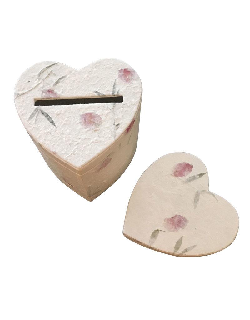 Boîte de rangement en forme de cœur