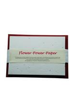 ensemble de 10 cartes papier Flower Power A5