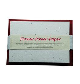 A5019 10 Karten und Umschlaege Flower Power