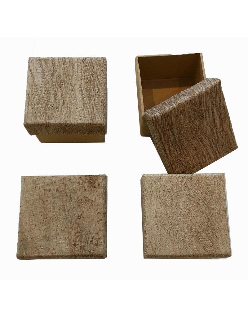 Satz von 4 Kleine Schachtel mit Rinde