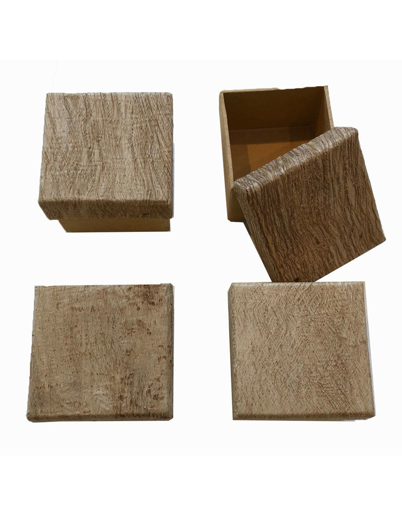 Set of 4 boxes with bark