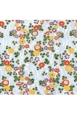 Japanese paper with flowers