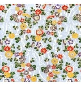 JP110 Japanese paper with flowers,