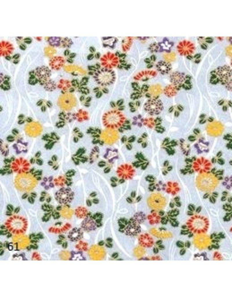 Japanpapier mit Blumenschmuck