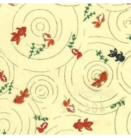 JP145 Japanese paper small fish, 3 col.