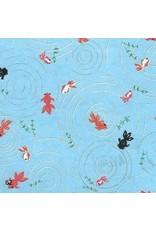 Japanischem Papier kleinen Fischen
