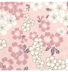 JP215 Papier japonais avec impression de fleurs