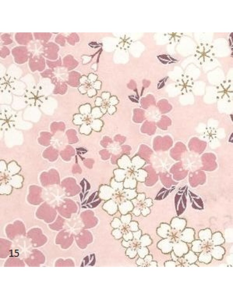 Japanese paper with blossom print