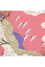 Japans papier met zwaluwprint