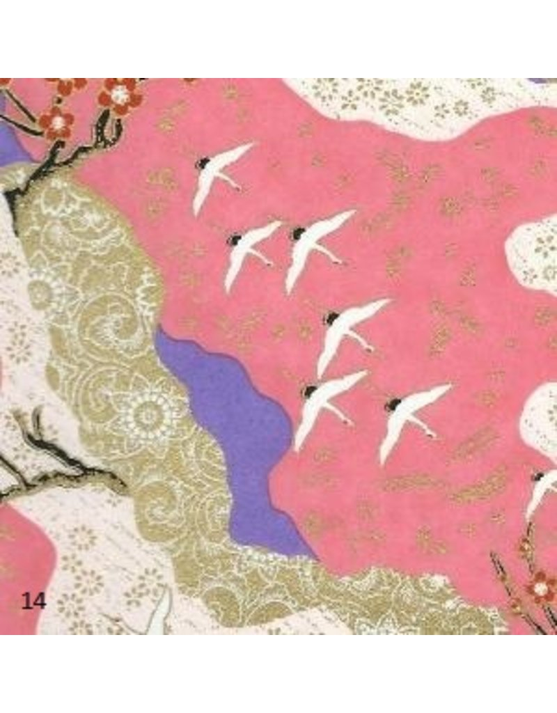 Japanese paper with swallow's print