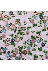 Japanischem Papier mit Blumenschmuck