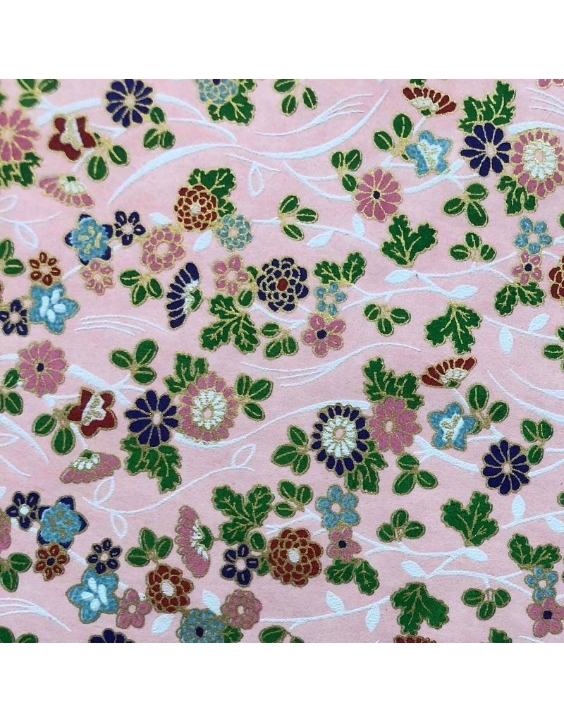 Japanees paper with flowers