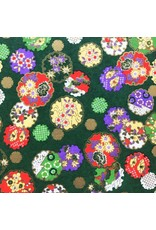 Papier japonais fleur/cercle