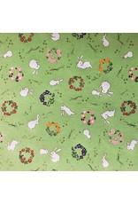 Japans papier met konijntjes print