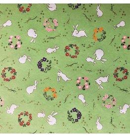 JP255 Papier japonais petites lapins, 4 coul.