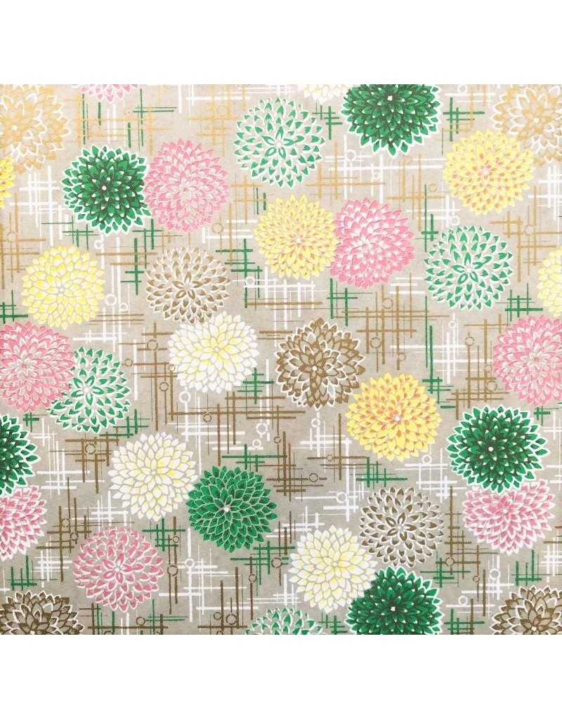 Japanese paper with  decorative fireworks print