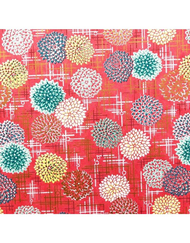 Japanese paper with ornamental firework print
