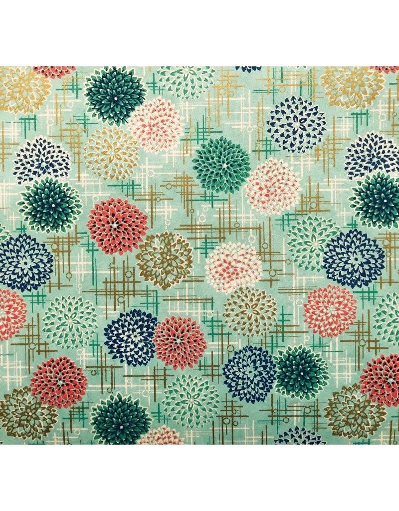 Japanpapier mit dekorativem Feuerwerkaufdruck