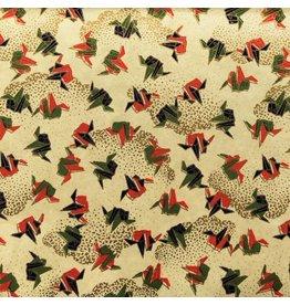 JP240 Japanische Papier Origami Aufdruck, 2 Fb.