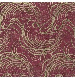 NE863 Loktapaper gold garland print