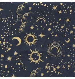 NE861 Lokta Paper moon and stars print