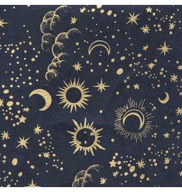 NE861  Loktapapier maan en sterrenprint