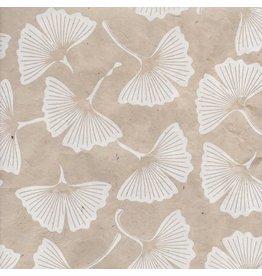 NE862 Loktapapier met ginkgo bladprint