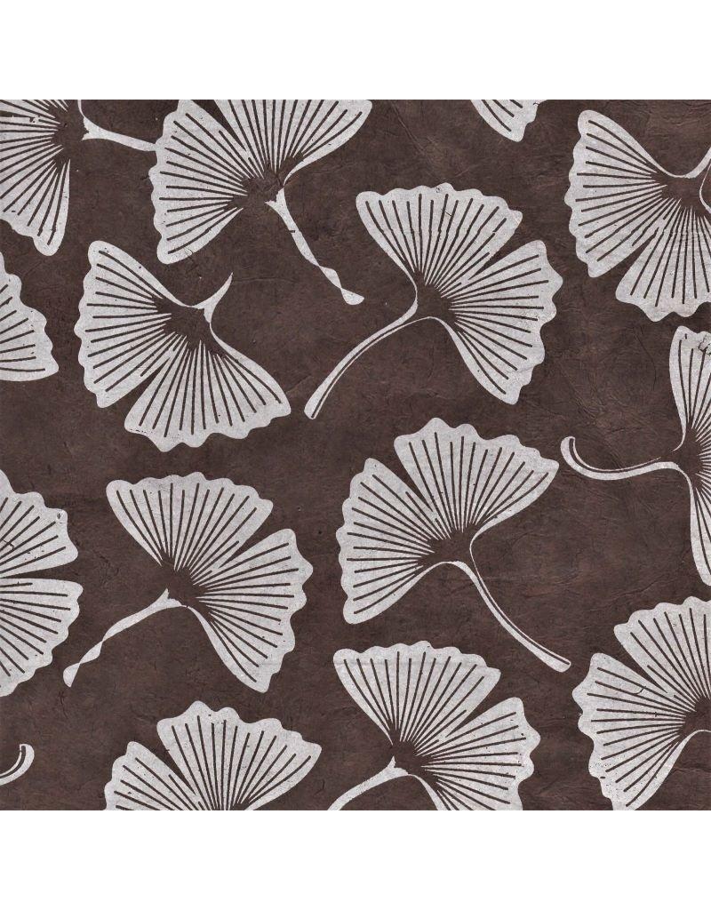 Lokta-Papier mit Ginkgoblattdruck