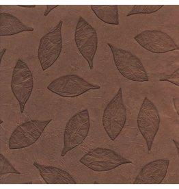 NE490  Lokta-Papier mit geprägtem Blatt