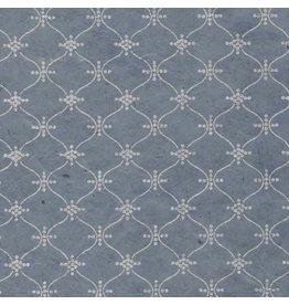 NE809 Lokta papier met een slinger print
