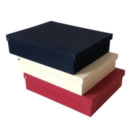 TH530 boîte de rangement coton impression feuille