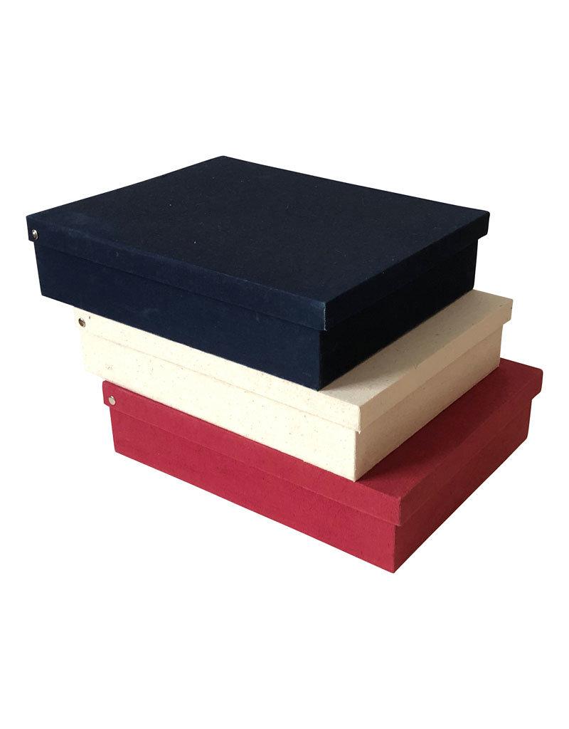 Memorybox van  katoen met bladprint