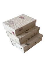 Schachtel Maulbeerpapier mit Blumen