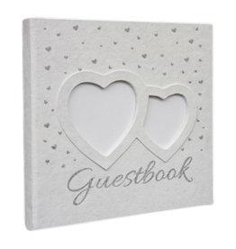 TH182 Gästebuch mit Silber Herzen