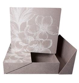 TH563 Fotoalbum weißen Blumendruck