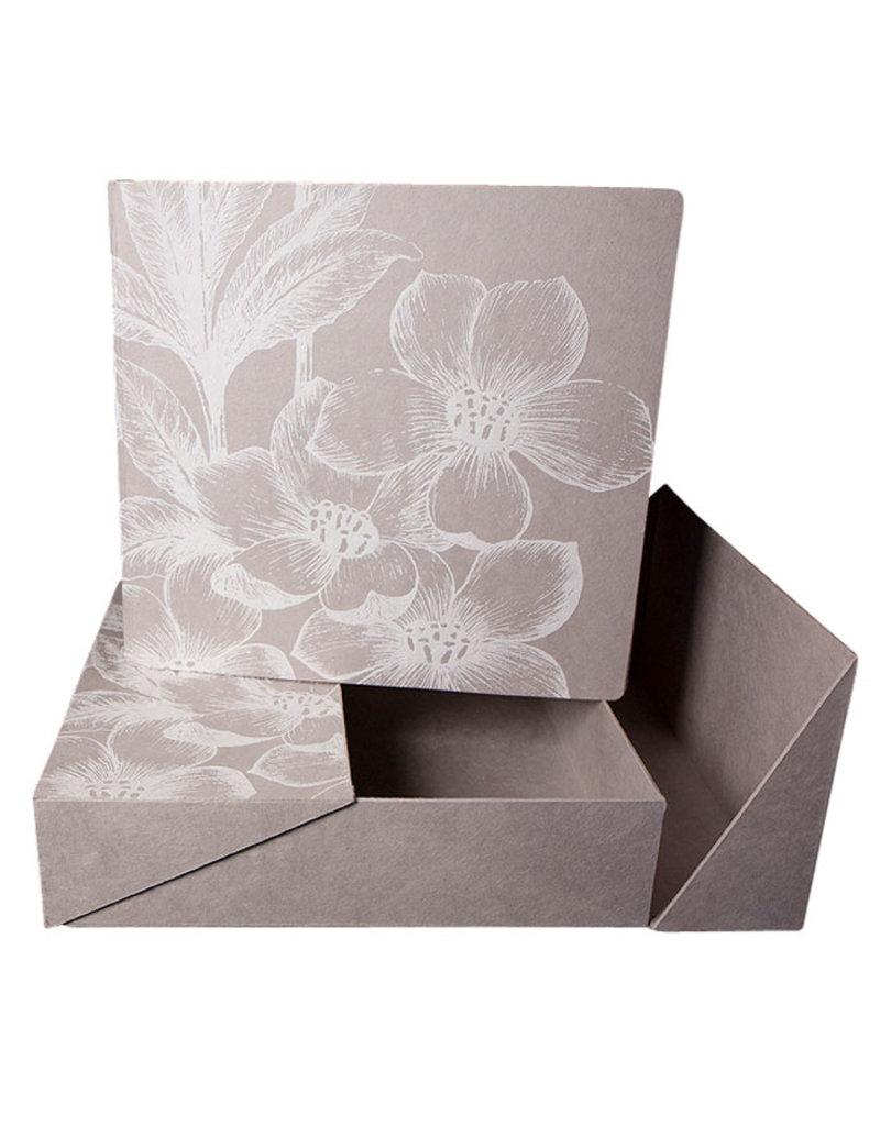 Fotoalbum weißen Blumendruck