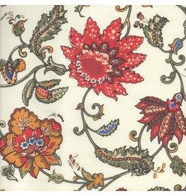 AE206 Katoenpapier bloemdessin