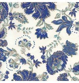 AE207 Baumwollpapier Blumenmuster