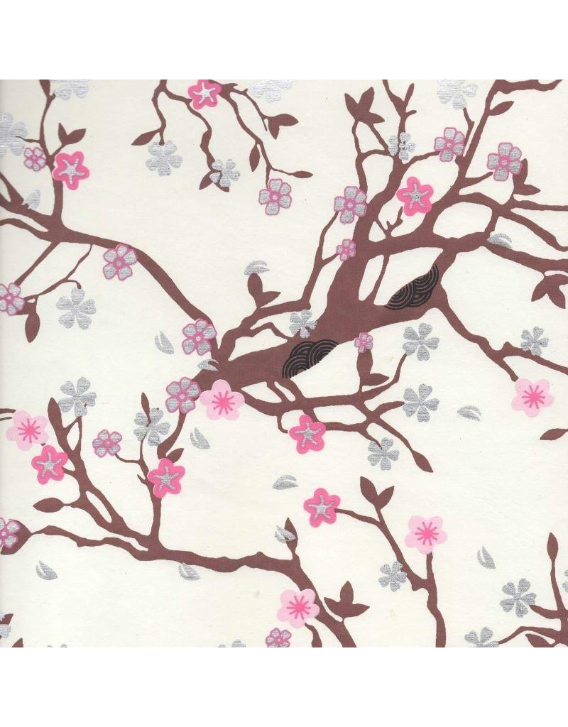 Katoenpapier, bloesem print