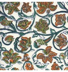 AE208 Baumwollpapier Blumenmuster