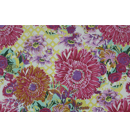 AE205 Cottonpaper with large flowerprint