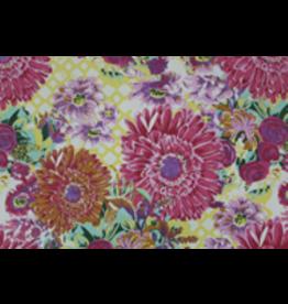 AE205 Papier de coton avec imprimé de grandes fleurs