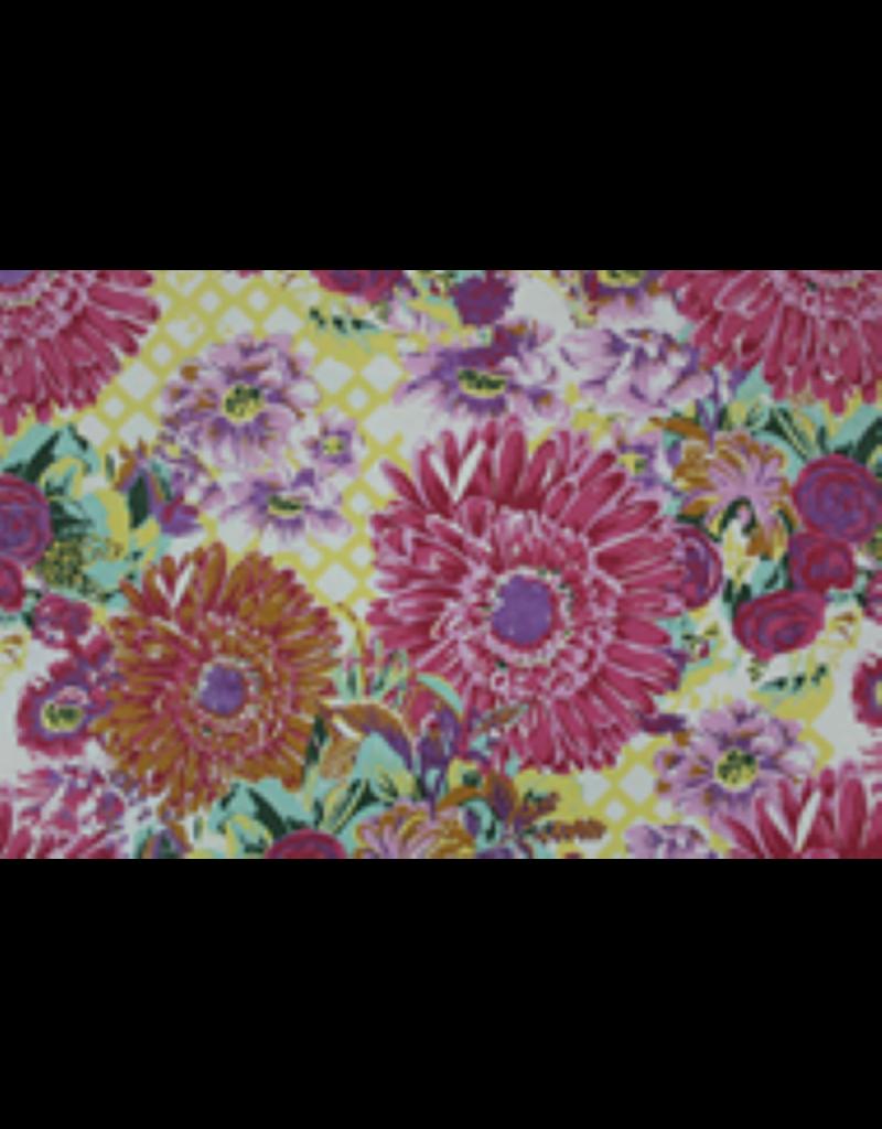 Baumwollpapier mit großem Blumendruck