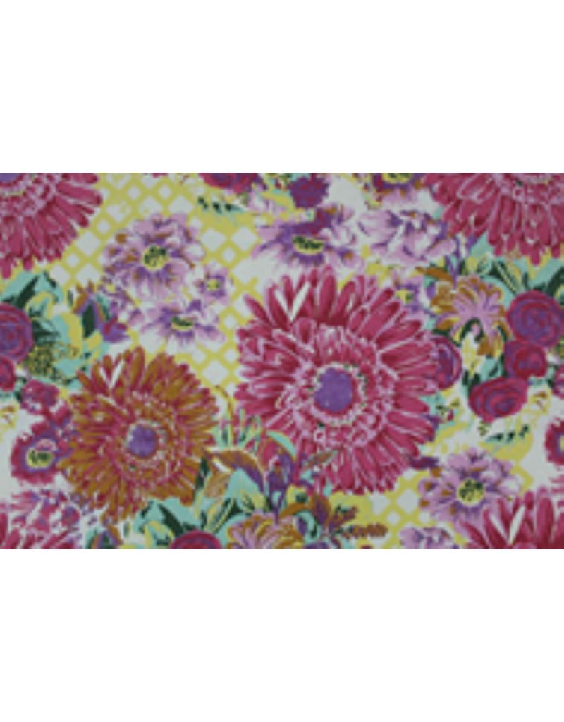 Cottonpaper with large flowerprint