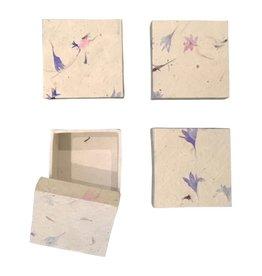 NE440 Satz von 4 Boxen Lokta Papier-Blumen