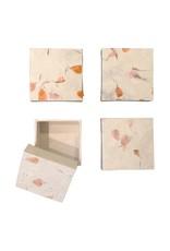 set of 4 boxes lokta-flowers.